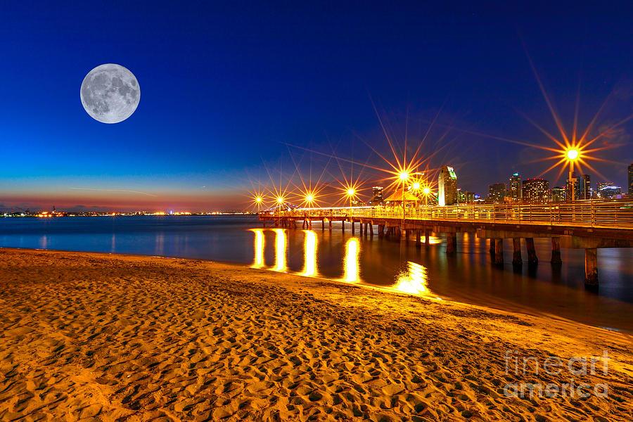 Coronado Pier San Diego night by Benny Marty
