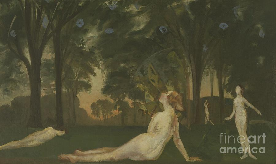 Nude Painting - Corridor Of Summer, 1910 by Arthur Bowen Davies