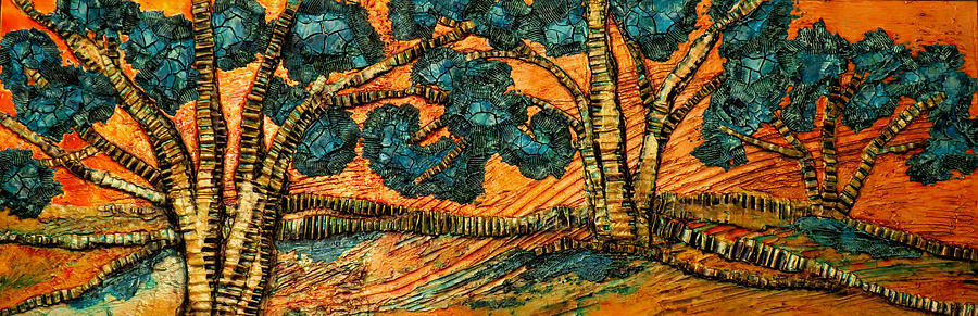 Corrugated Live Oaks #5 by Carla Carlson