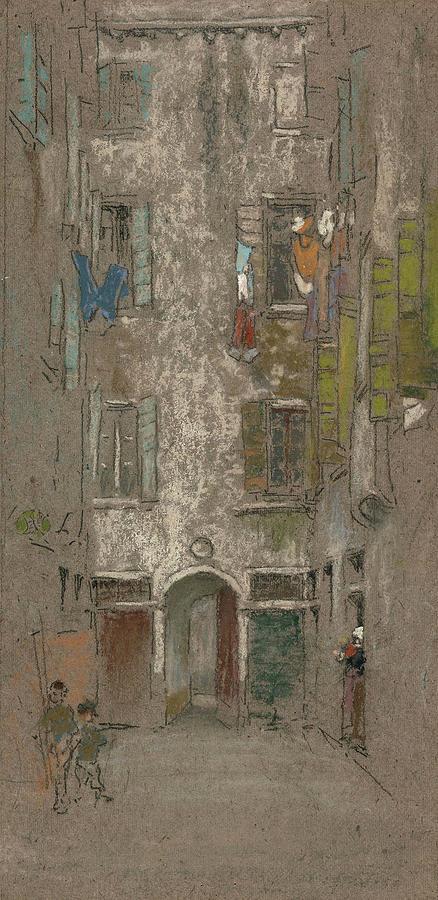 Corte del Paradiso by James Abbott McNeill Whistler