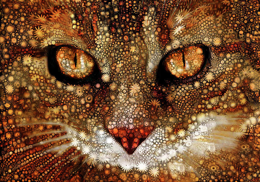 Cosmic Cat by Peggy Collins