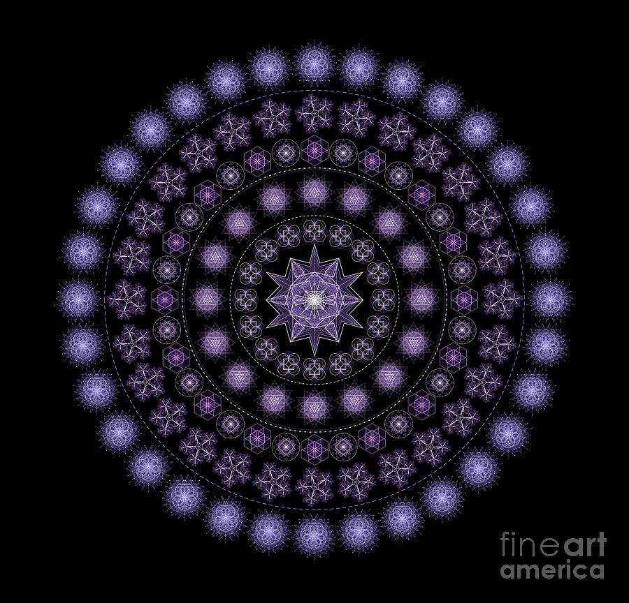 Cosmic Divine Flower Mandala by Nathalie DAOUT