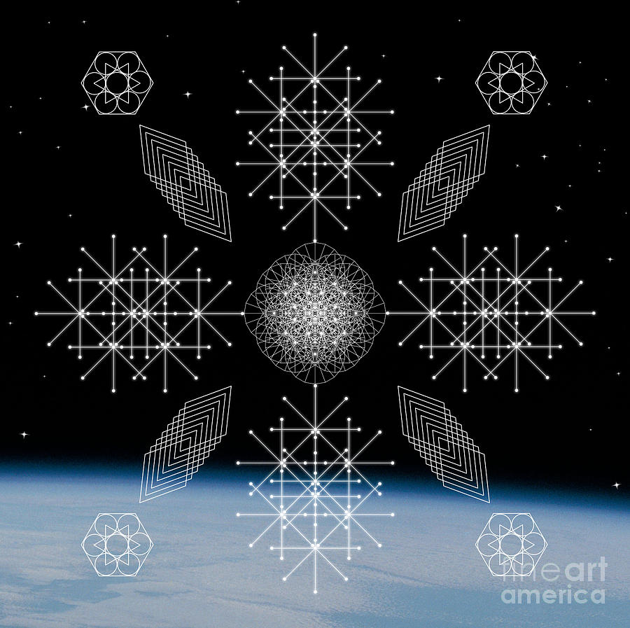 Cosmic Law Sacred Geometry  by Nathalie DAOUT