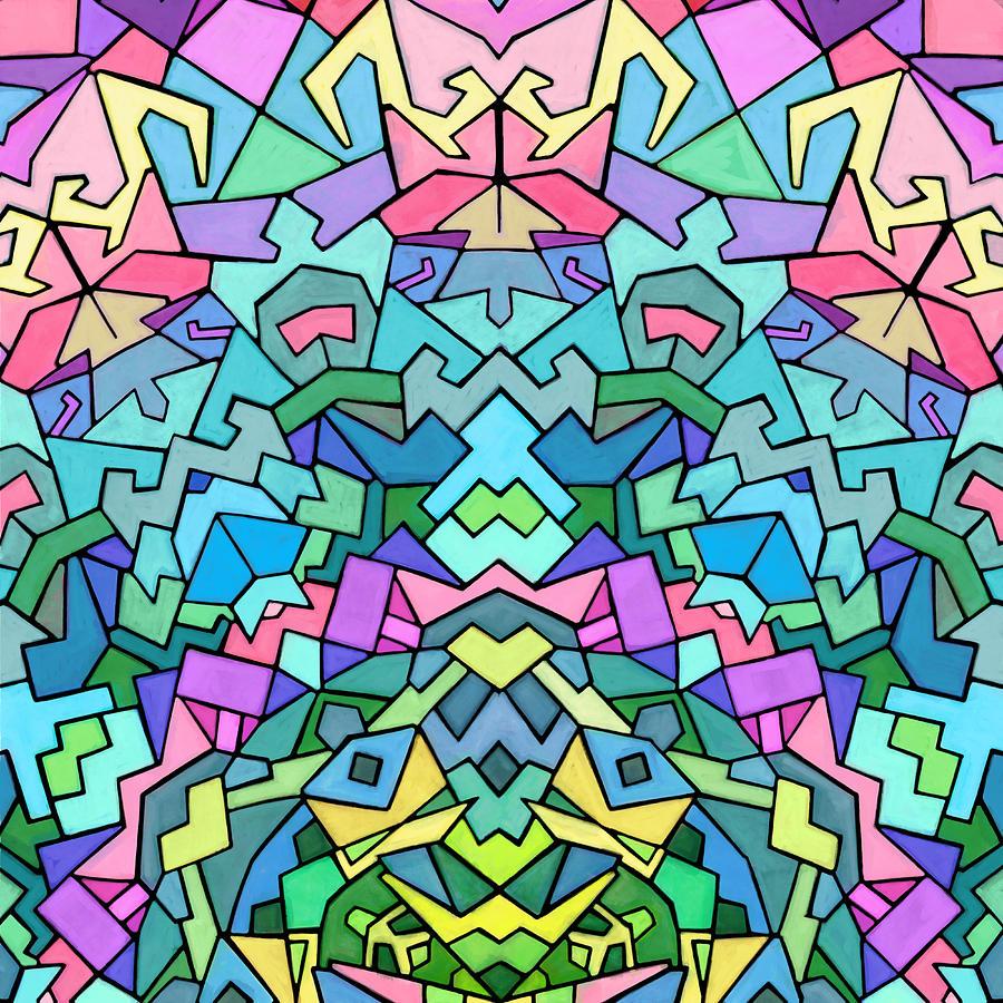 Nonobjective Digital Art - Cosmic Lock by James Fryer