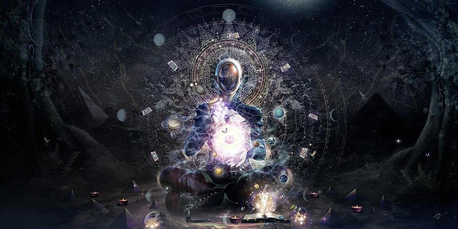 Cameron Gray Digital Art - Cosmic Ritual by Cameron Gray