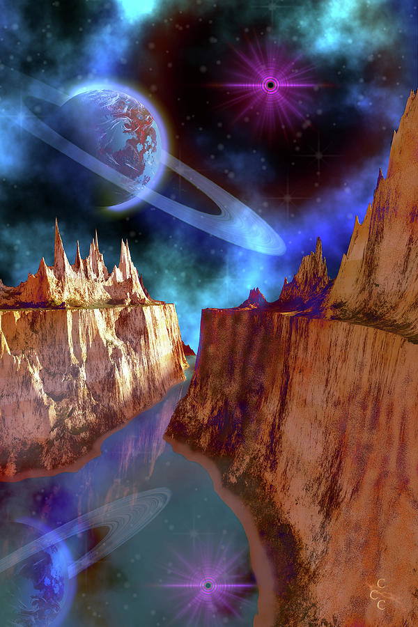 Cosmic Seascape On Another World Digital Art by Corey Ford/stocktrek Images