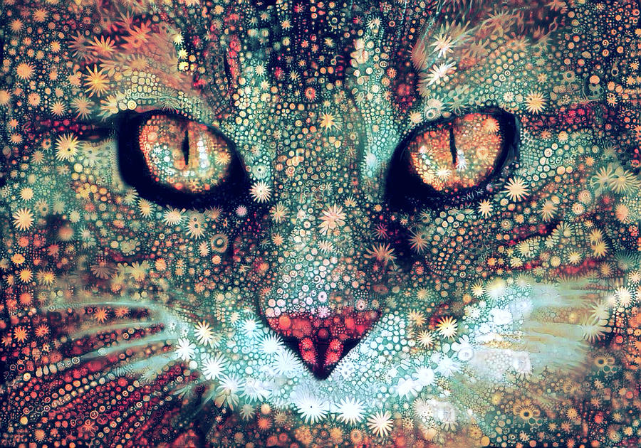 Cosmic Tabby Cat by Peggy Collins