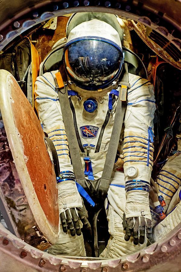 Cosmonaut In A Soyuz by KJ Swan