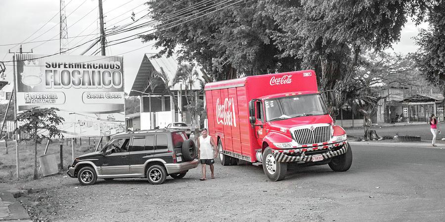 Costa Photograph - Costa Rica Soda Truck by Betsy Knapp