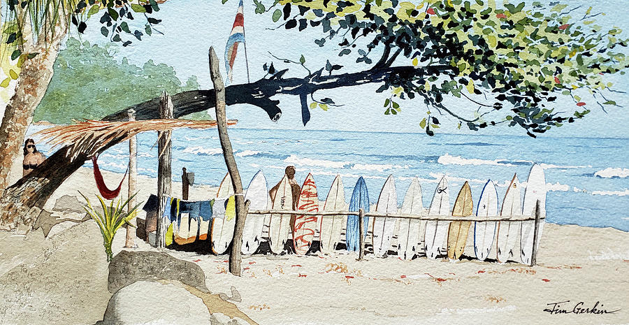Costa Rican Surf by Jim Gerkin