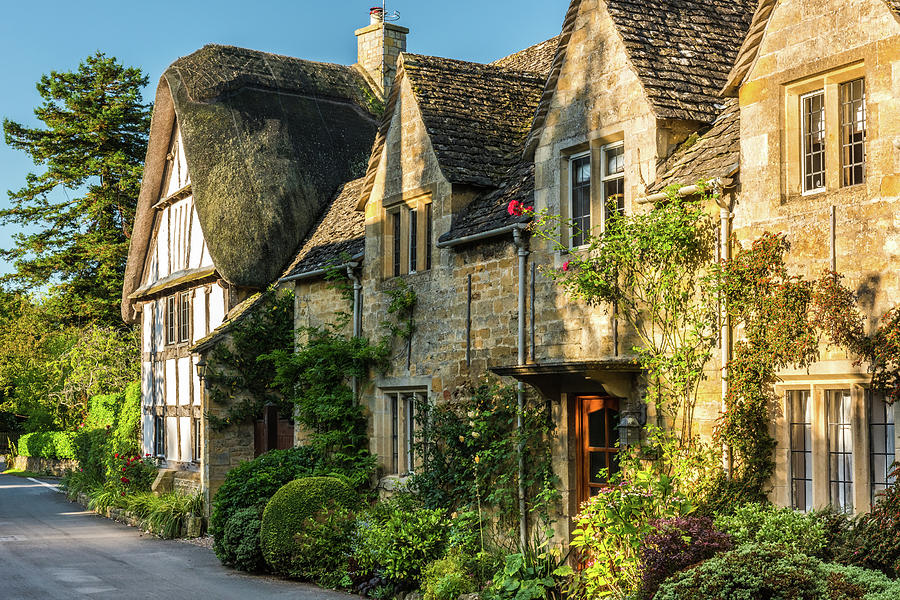 Cotswolds Photograph - Cotswold Cottages, Stanton, Gloucestershire by David Ross