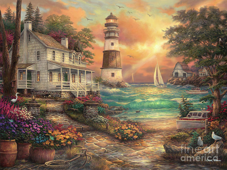 Cottage by the Sea by Chuck Pinson