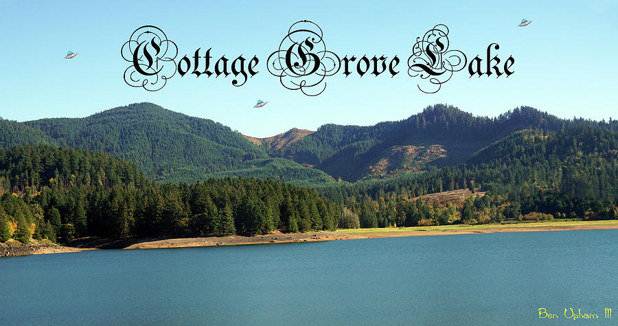 Cottage Grove Lake with UFOs by Ben Upham III
