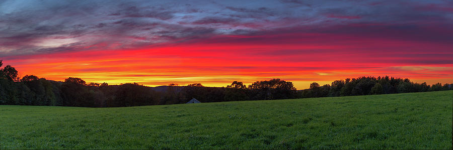 Cottage Hill Farm Sunset by MIKE MCQUADE