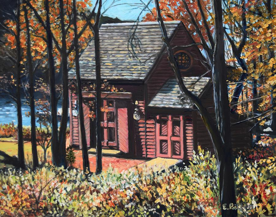 Cottage On The Shore At Lobster Cove by Eileen Patten Oliver