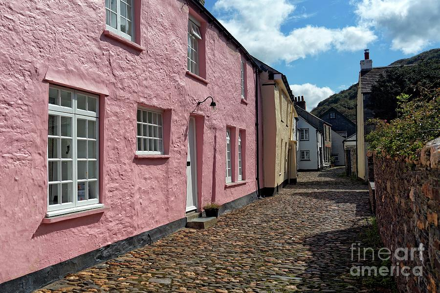 Cottages and Cobbles at Boscastle, Cornwall by David Birchall