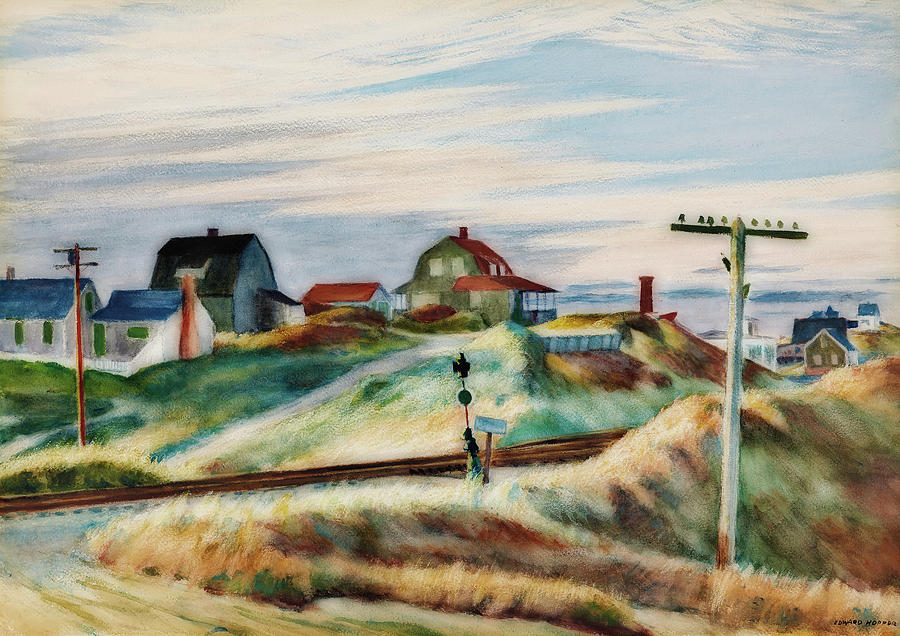Painting Painting - Cottages At North Truro by Edward Hopper