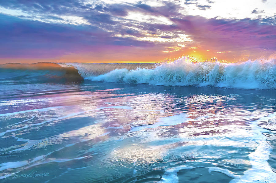 Cotton candy sunrise surf by Stacey Sather