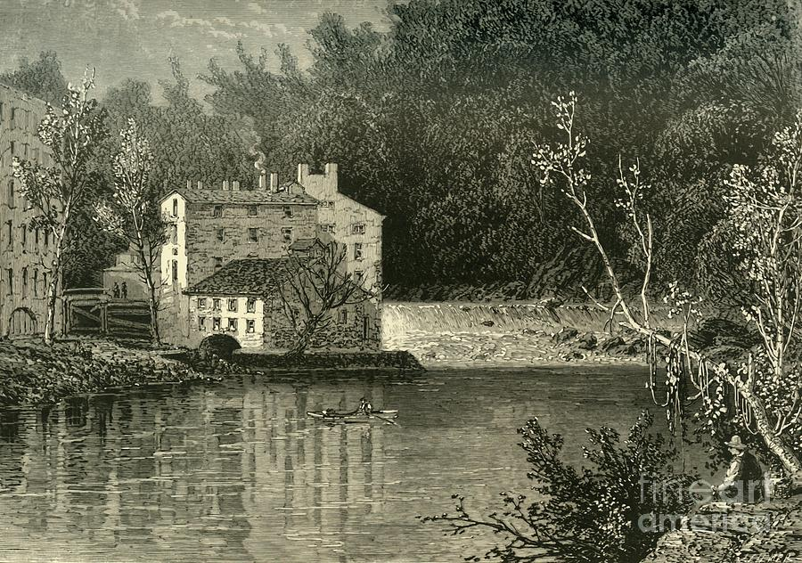 Cotton-mills Drawing by Print Collector