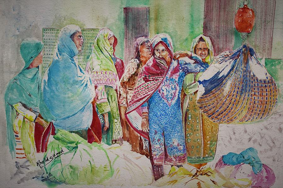 Cotton Pickers by Khalid Saeed