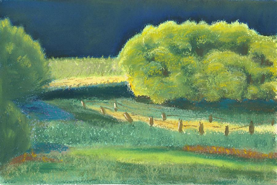 Landscape Pastel - Cottonwoods by Ellen Kirwan