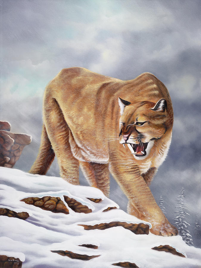 Cougar Painting - Cougar by Geno Peoples