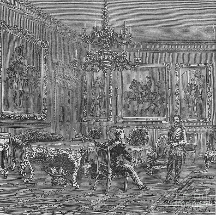 Council Chamber, St Jamess Palace Drawing by Print Collector
