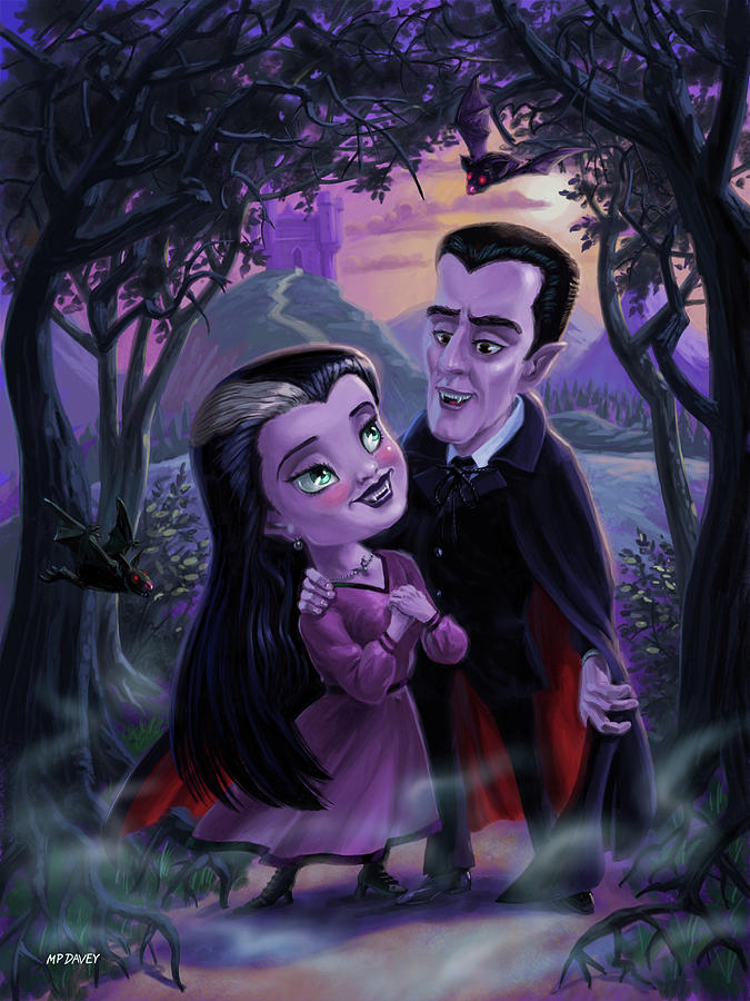 Count and Countess Dracula during Halloween evening by Martin Davey