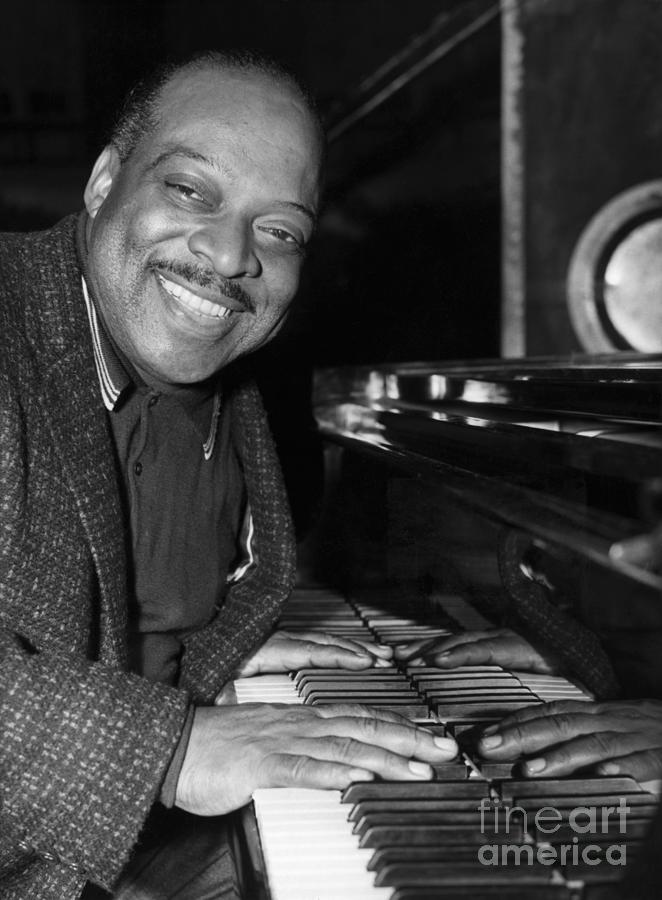 Art Print Poster Canvas Count Basie Playing Piano