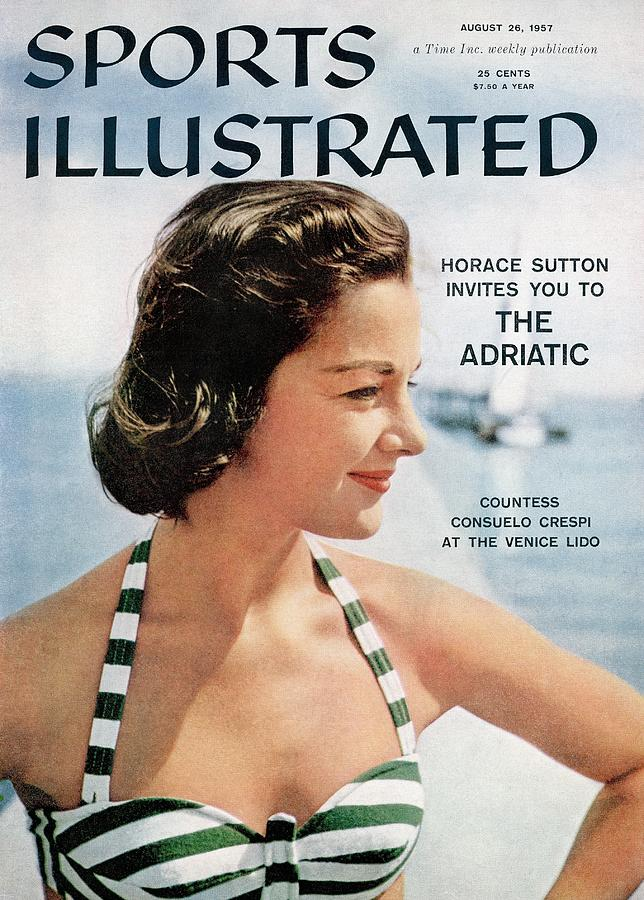 Countess Consuelo Crespi, 1956 Swimsuit Sporting Look Sports Illustrated Cover Photograph by Sports Illustrated