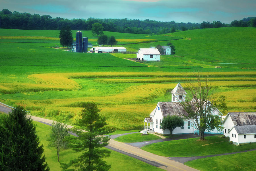 Church Photograph - Country Church by Tom Mc Nemar