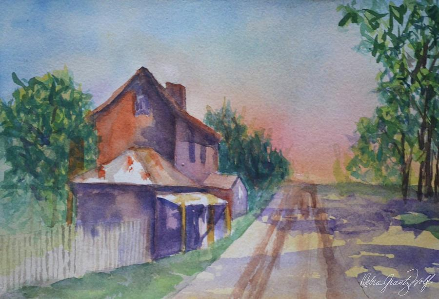 On the Road Painting by Debra Grantz Wolf