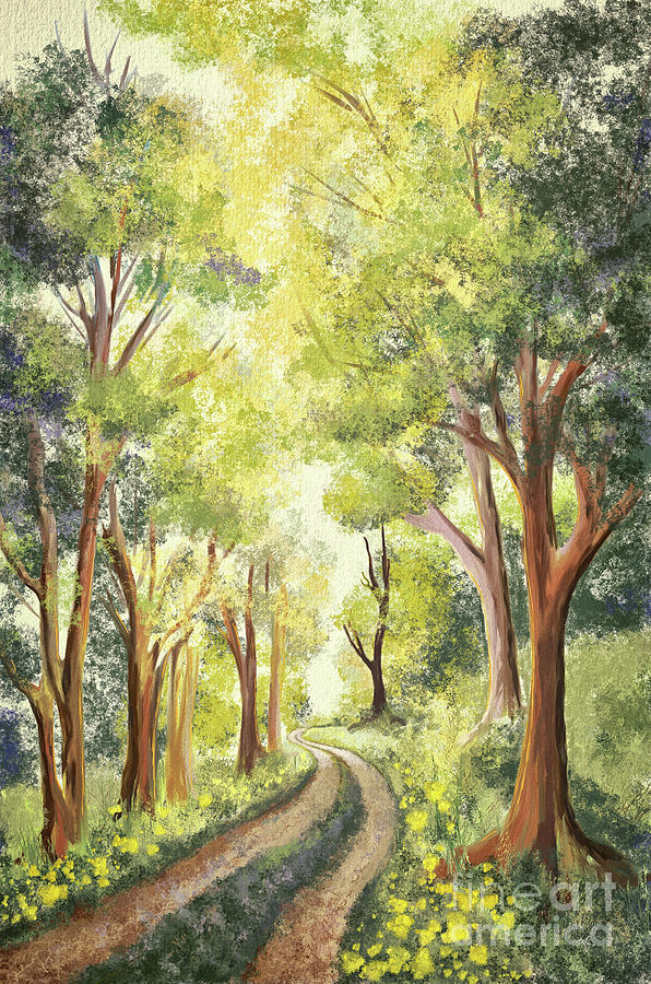 Country Lane In Spring by Lois Bryan