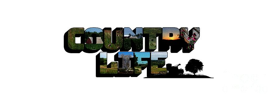 Country Life Big Letter by Colleen Cornelius