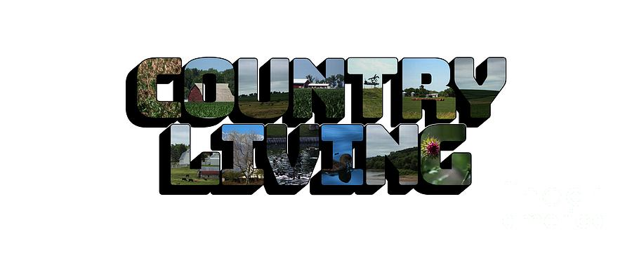 Country Living Big Letter by Colleen Cornelius