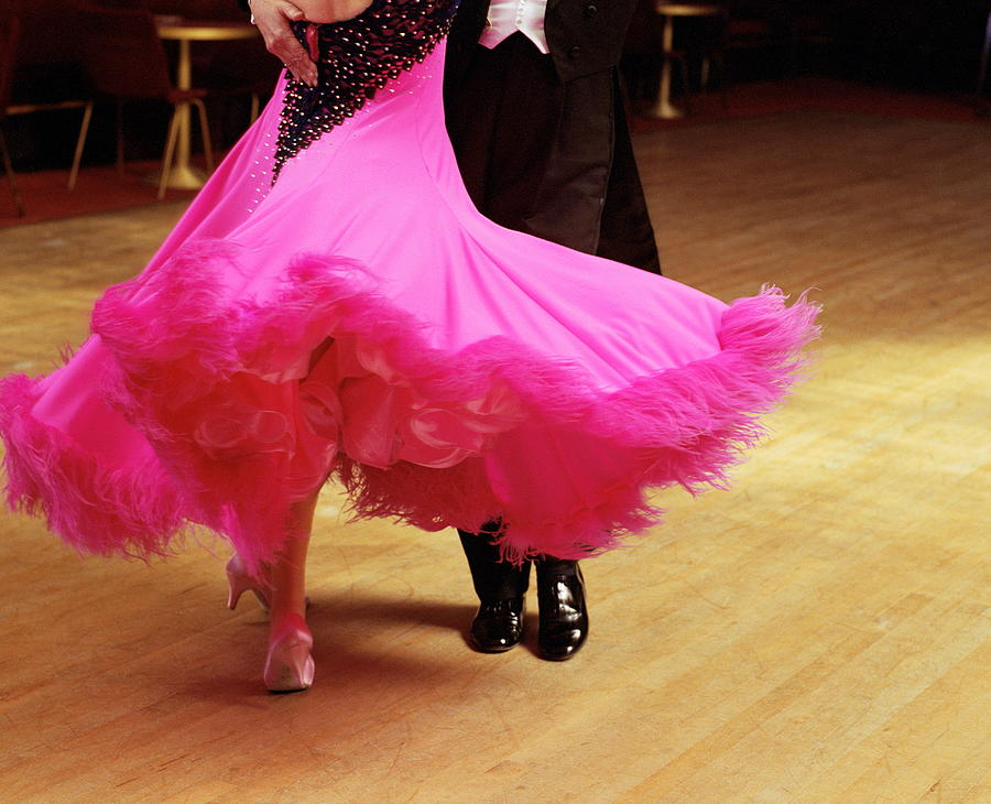 Couple Ballroom Dancing, Low Section Photograph by David Woolley
