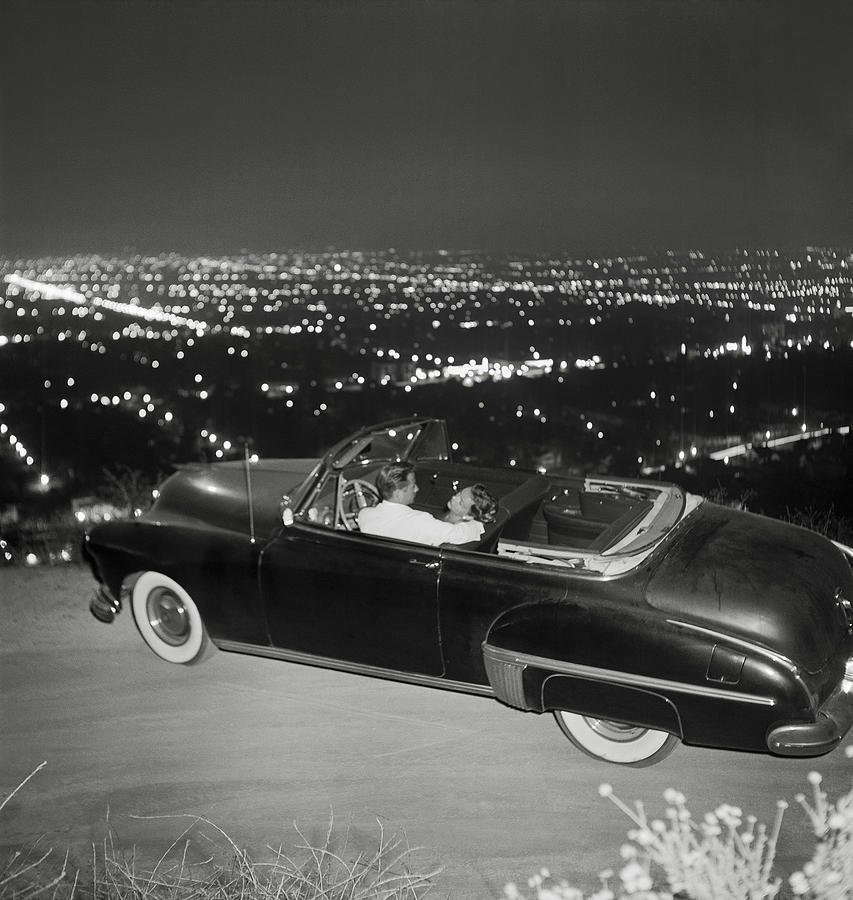 Couple In Convertible On Mulholland Photograph by Michael Ochs Archives