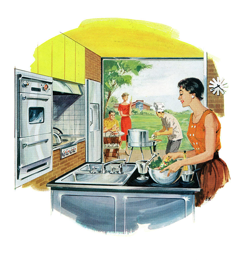 Couple Preparing Food Photograph by Graphicaartis