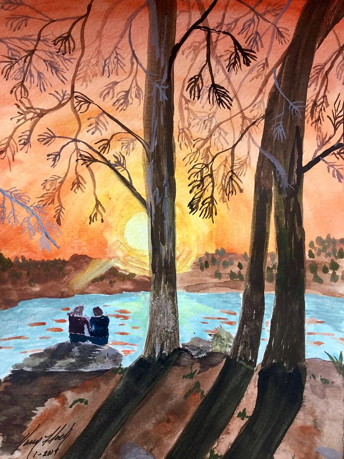 Couple Under Tree by Karen Floch