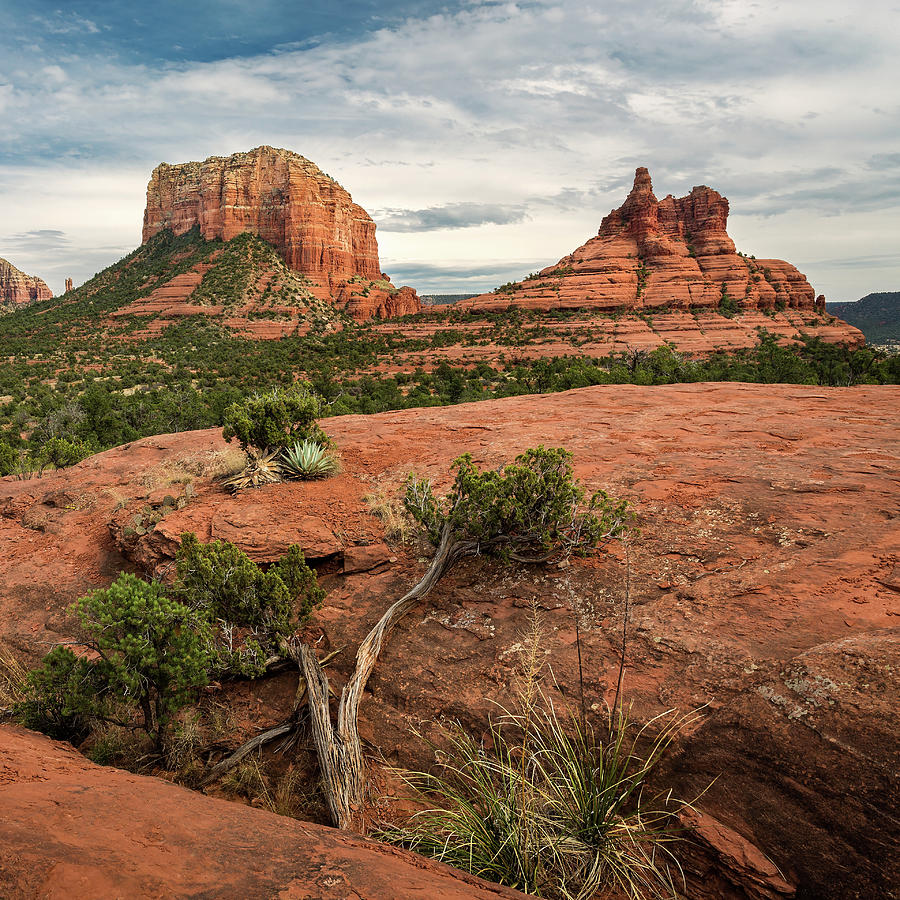 Courthouse Butte and Bell Rock by Rick Strobaugh