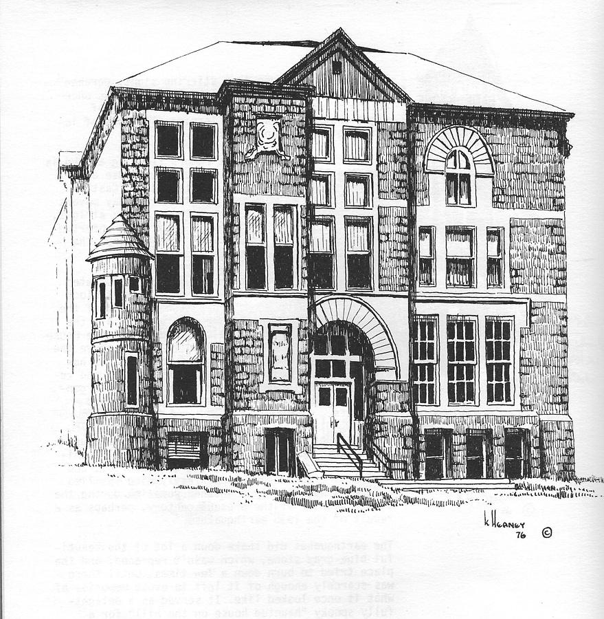 Courthouse Drawing - Courthouse Helena Montana by Kevin Heaney
