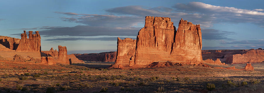 Arches National Park Photograph - Courthouse Towers-Arches National Park by Mark Langford