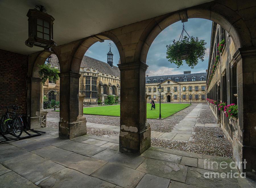 Courtyard of Peterhouse College Cambridge by Mike Reid