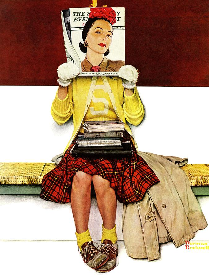 Covers Drawing - Cover Girl by Norman Rockwell
