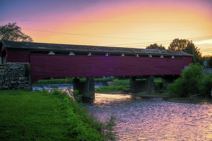 Covered Bridge Sunset by Jason Fink