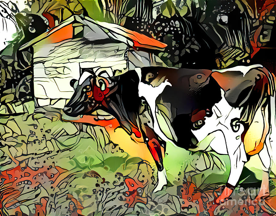 Cow Abstract by Trudee Hunter