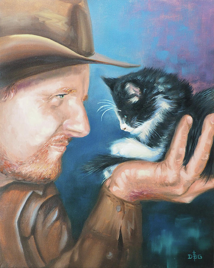 Cowboy and Kitten by David Bader