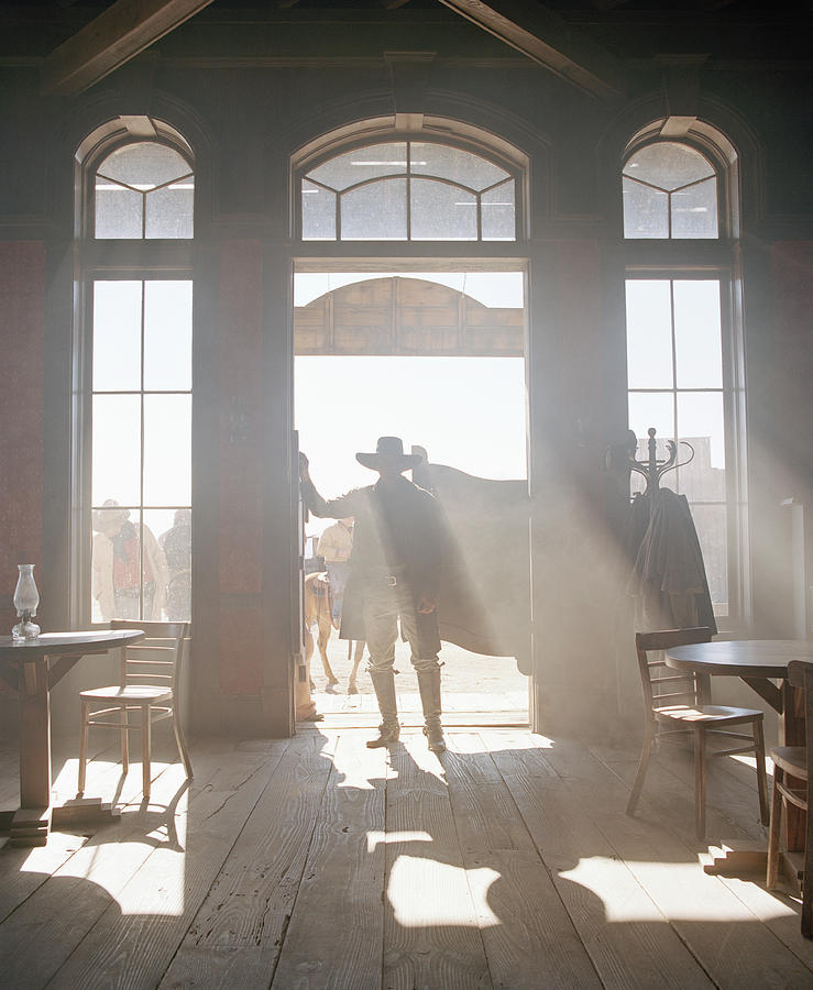 Cowboy At Saloon Photograph by Matthias Clamer