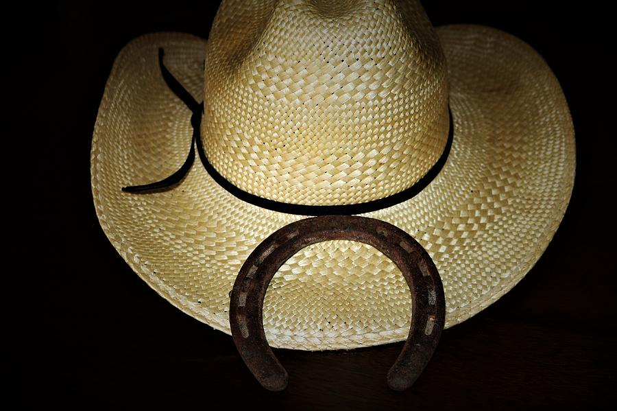 Cowboy Hat and Horseshoe by Sheila Brown