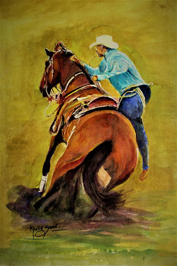 Cowboy in action by Khalid Saeed